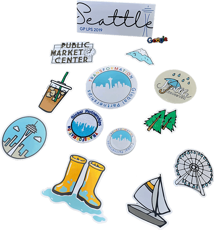 Google Seattle Stickers